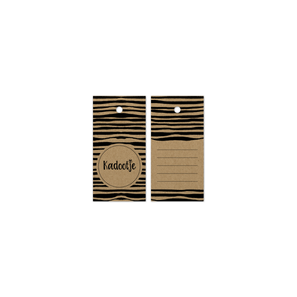Cadeau label, kadootje, 80x40mm (100 stuks)