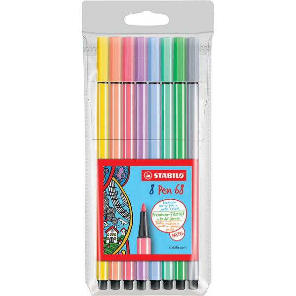 Viltstift stabilo 68/8-01 pastel ass(68/8-01)