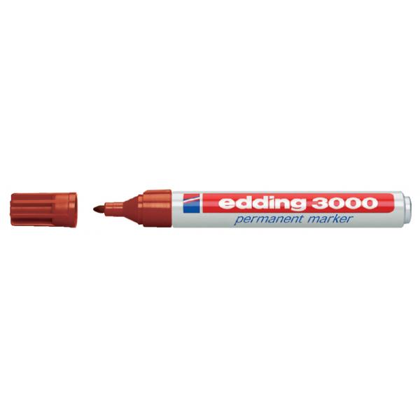 Viltstift edding 3000 perm rond 1.5-3mm bruin
