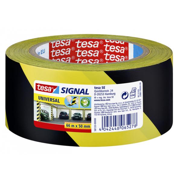 Waarschuwingstape tesa 58133 50mmx66m geel/zwart(58133-00000