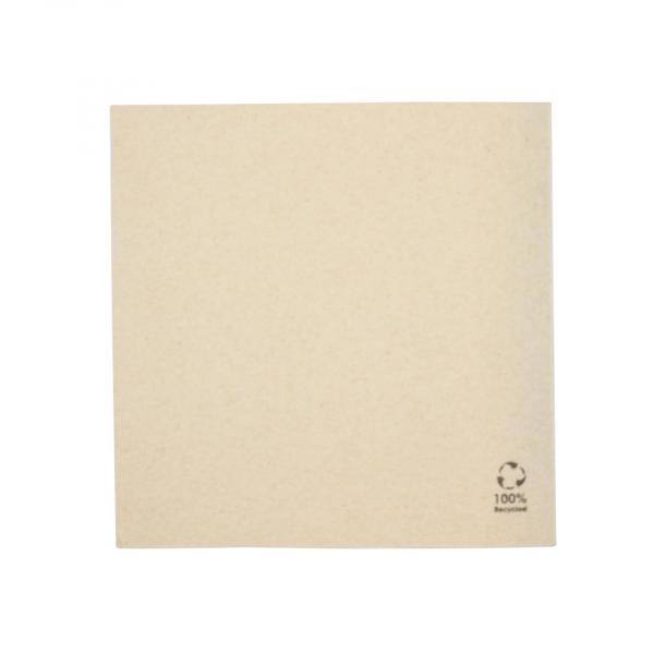 Servet, ongebleekt, 33x33cm, 1 laags (4500 stuks)