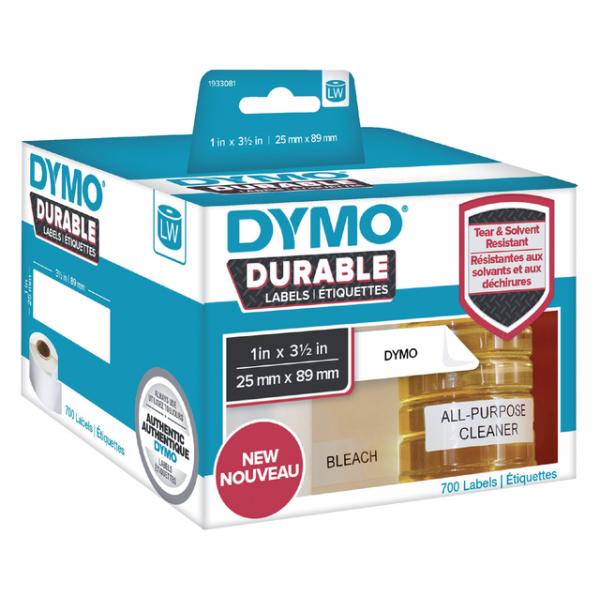 Label etiket dymo durable 19330 89mmx25mm wit(1933081)