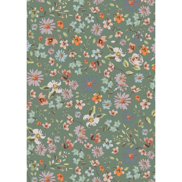 Cadeaupapier, 50cm x 200m, K601755/3, beautiful flower green