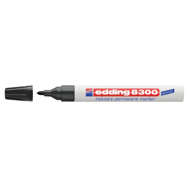 Viltstift edding 8300 perm rond 1-3mm zwart