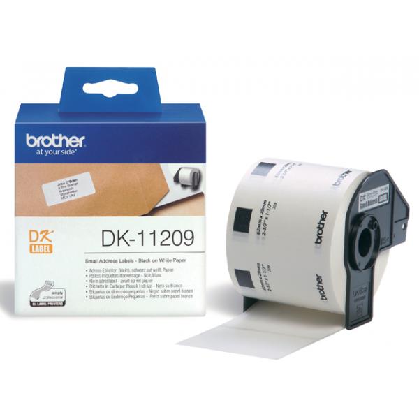 Etiket brother dk-11209 adres klein 62mmx29mm