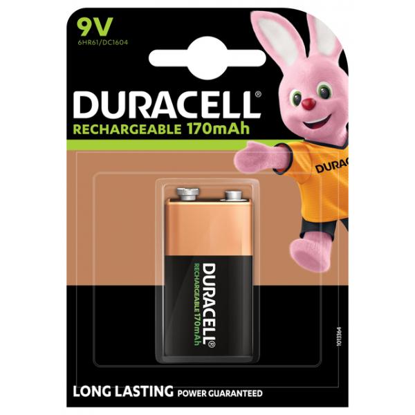 Batterij oplaadbaar duracell hr9v 9v