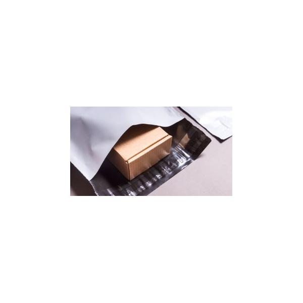 Verzendzak met dubbele plakstrip, LDPE coex, 32x42cm
