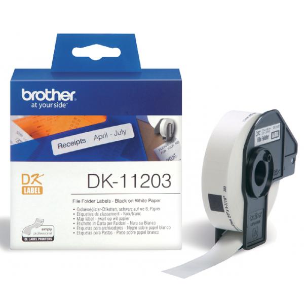 Etiket brother dk-11203 archivering 87mmx17mm