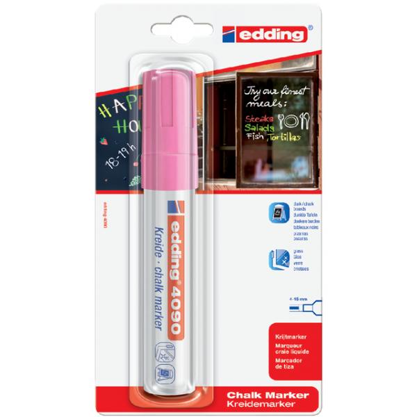 Viltstift edding 4090 window schuin 4-15mm roze