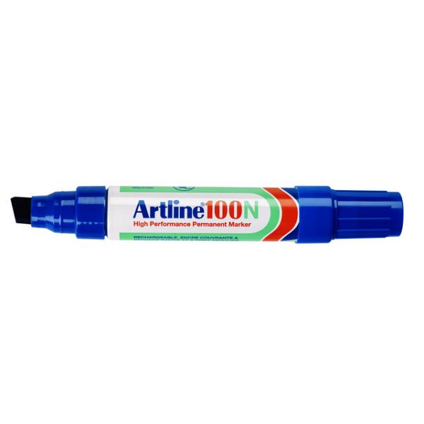 Viltstift artline 100 perm schuin 4-12mm bl