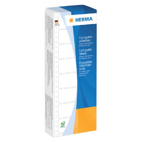 Etiket herma pinfeed 8181 1baans 88.9x35.7mm geel