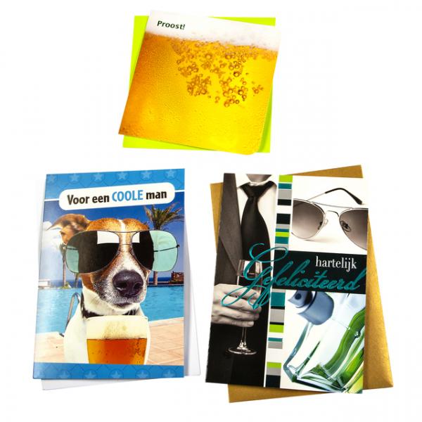 Wenskaart navulset paperclip verjaardag man(box.verjaardag m