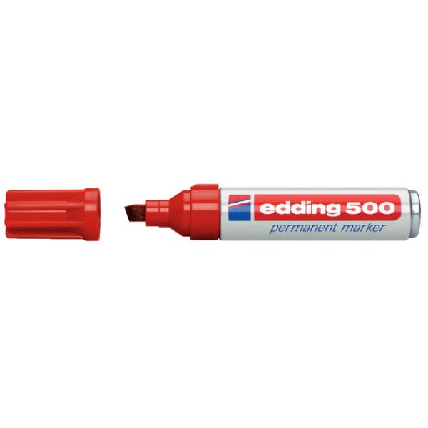 Viltstift edding 500 perm schuin 2-7mm rood