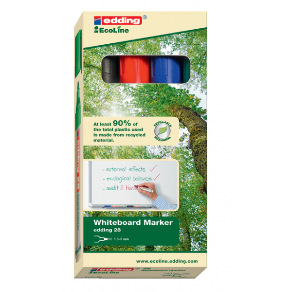 Viltstift edding 28 ecoline rond 1.5-3mm ass