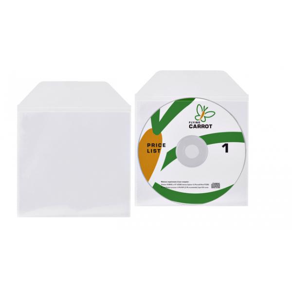 Dvd/cd hoes met klep 125x128mm bio degradable tr(10715)