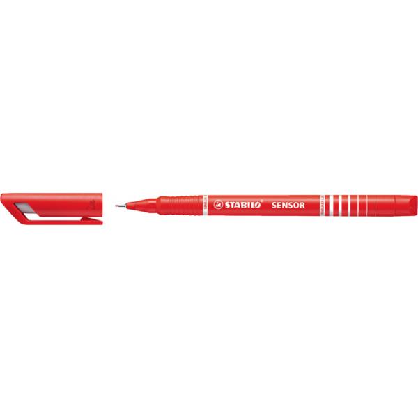 Fineliner stabilo sensor 189 rood
